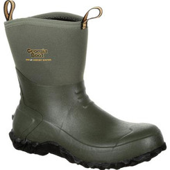 Georgia Mens Boot Waterproof Mid Rubber Boot 0231 GREEN