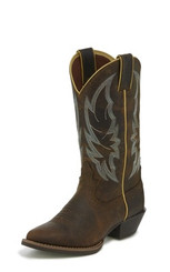 "Justin Ladies Boots L2723 12"" CALIMERO DISTRESSED CHOCOLATE"