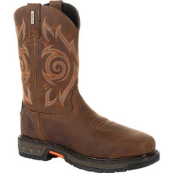 Georgia Boots Mens Carbo-Tec LT Steel Toe Waterproof Pull On Work Boot 0264 BROWN
