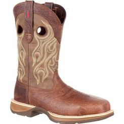 Rebel by Durango Mens Boots Composite Toe Waterproof Western Boot 0122 DISTRESSED BROWN AND TAN