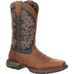 Rebel by Durango Mens Boots Pull-on Western Boot 0135 CHOCOLATE AND MIDNIGHT