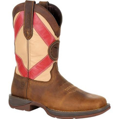 Rebel by Durango Mens Boots Florida State Flag Western Boot 0233 SADDLE BROWN AND FLORIDA FLAG