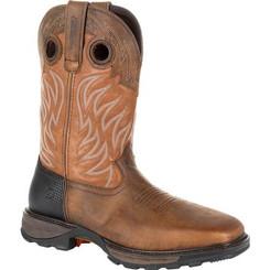 Durango Mens Boots Maverick XP Steel Toe Waterproof Western Work Boot 0215 RUGGED BROWN AND COPPER
