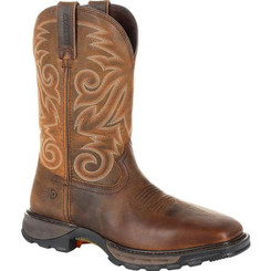 Durango Boots Mens Maverick XP Steel Toe Waterproof Western Work Boot 0206 BURLY BROWN