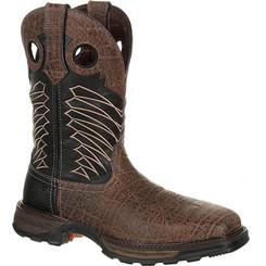 Durango Mens Boots Maverick XP Steel Toe Waterproof Western Work Boot 0176 CHOCOLATE SAFARI ELEPHANT BLK