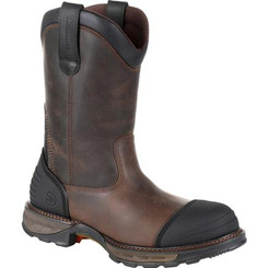 Durango Mens Boots Maverick XP Composite Toe Waterproof Pull On Work Boot 0237 DISTRESSED GRIZZLY BROWN