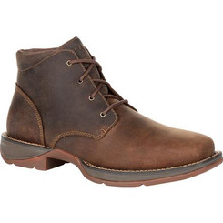 Durango Mens Boots Red Dirt Rebel Square-Toe Chukka 0248 BARK BROWN