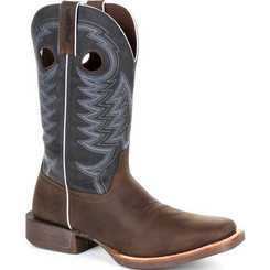 Durango Mens Boots Rebel Pro Denim Blue Western Boot 0216 BELGIAN BROWN AND DENIM BLUE