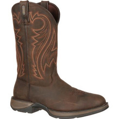 Rebel by Durango Mens Boots Chocolate Pull-On Western Boot 5464 CHOCOLATE WYOMING