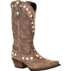 Crush by Durango Women's Floral Western Boot 0362 DRIFTWOOD