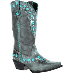 Crush By Durango Women's Blue Floral Western Boot 0363 BLUE SLATE