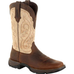Lady Rebel by Durango Women's Brown Western Boot 0332 BARK BROWN AND TAUPE