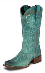 """Justin Ladies Boots L9850 8 INCH HEIGHT"""" BLACK BUFFALO"""