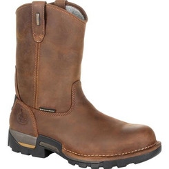Georgia Boots Mens Eagle One Waterproof Pull On Work Boot 0314 BROWN