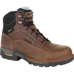 Georgia Boots Mens Eagle One Steel Toe Waterproof Work Boot 0313 BROWN