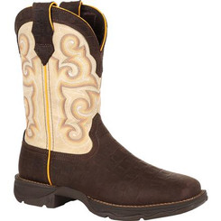 Lady Rebel by Durango Gator Emboss Western Boot 0386 GATOR EMBOSS AND BONE