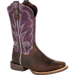 Durango Lady Rebel Pro Women's Ventilated Plum Western Boot 0377 OILED BROWN AND PLUM