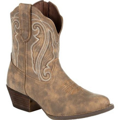 Crush by Durango Women's Distressed Shortie Western Boot 0372 DRIFTWOOD