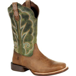 Durango Lady Rebel Pro Women's Ventilated Olive Western Boot 0378 DUSTY BROWN AND OLIVE GREEN