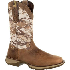 Rebel by Durango Mens Boots Desert Camo Pull-on Western Boot 0166 DUSTY BROWN AND DESERT CAMO