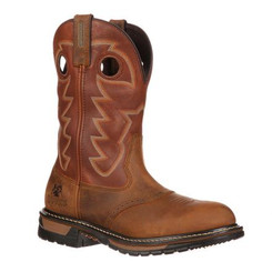 Rocky Original Ride Branson Saddle Roper Western Boot 2775 Saffron Brown