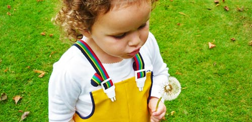 Robust waterproof dungarees and trousers for active children
