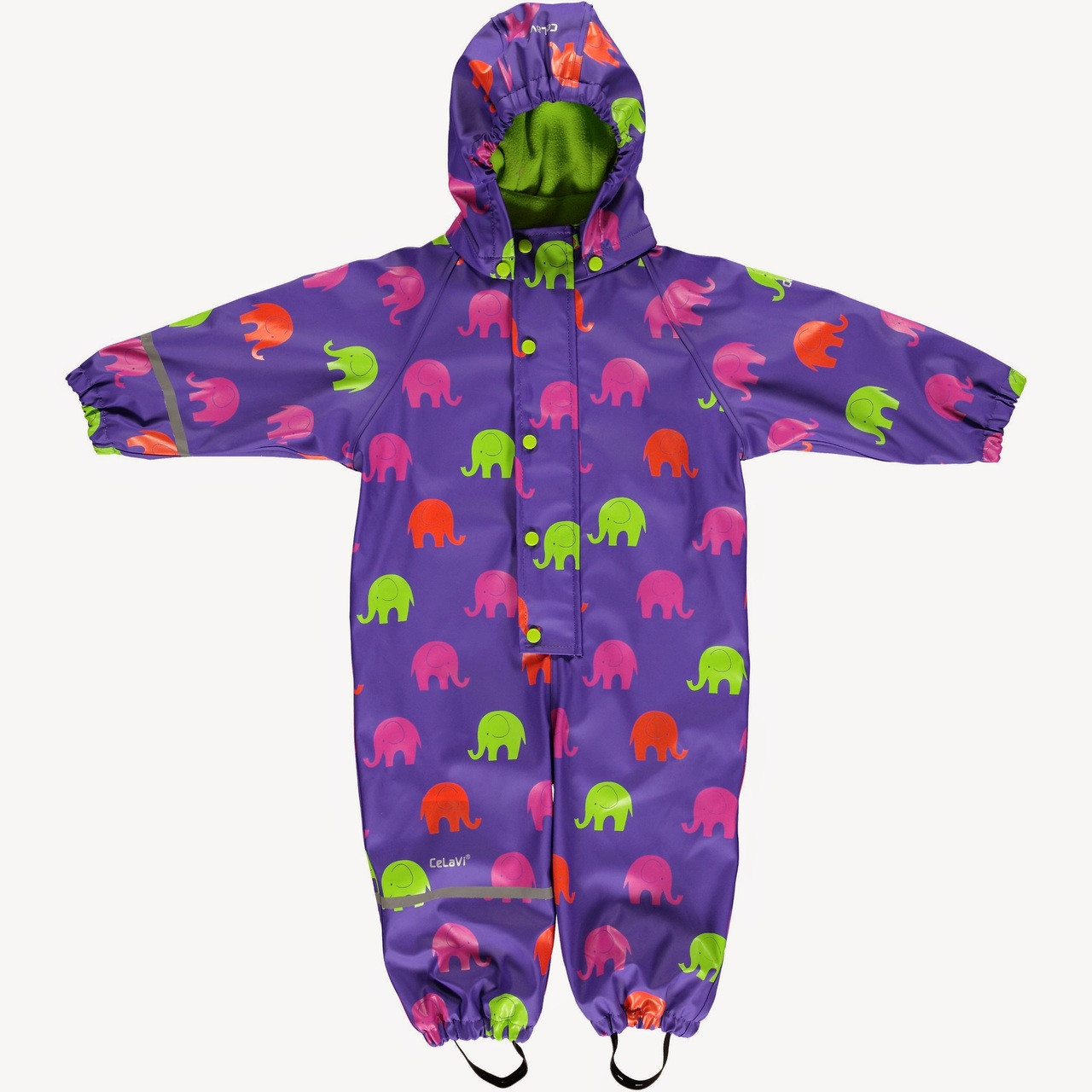 5a7153bbc Fleece Lined All in One Suit - Raindrops