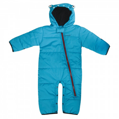 Dare 2b Waterproof baby & toddler snow suit in fluoro blue