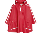 Long backed poncho in red