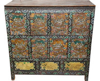 Antique Tibetan Wood Chest SOLD