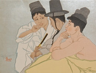 Paul Jacoulet, Three Koreans 1935