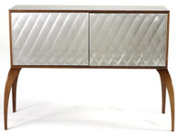 Dialogica Stainless Quilted Wood Cabinet SOLD