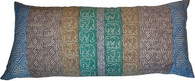 Large Block Print Silk/Cotton Pillow
