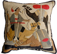 Antique Egyptian Appliqué Pillow