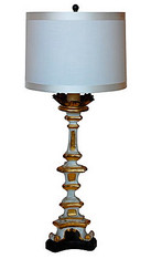 Antique Altar Stick Table Lamp SOLD