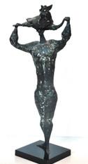 Luciano Minguzzi Bronze 'Uomo Con Gallo' 1950s