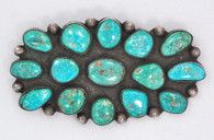 Navajo Turquoise Brooch 1930s SOLD
