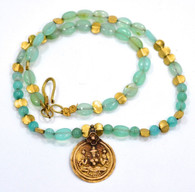 Antique 24k Gold Amulet with Peruvian Opals SOLD