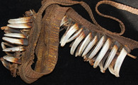 Asmat Boar's Tusk Woven Tribal Necklace