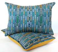 Guatemalan Ikat Textile Pillow Pair SOLD