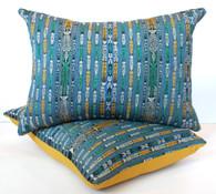 Guatemalan Ikat Textile Pillow Pair
