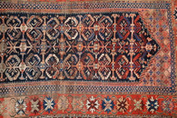"Antique Caucasian Malayer Rug 113"" x 62"""