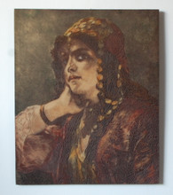 Antique Etching Plate of Gypsy