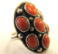 Navajo Coral Sterling Ring