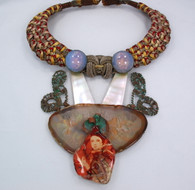 Alex & Lee 'Love & Peace' Necklace 1970s SOLD