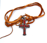 JC Delgarito Navajo Cross Necklace