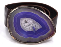 Marko Sterling Agate Buckle Belt