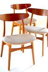Set of 8 Hans Wegner Teak & Oak Dining Chairs SOLD