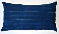 African Vintage Indigo Textile Pillow SOLD