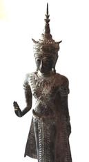 17c Bronze Thai Standing Buddha